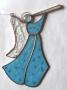 Сувенир витражный стеклянный ангел в стиле тиффани.